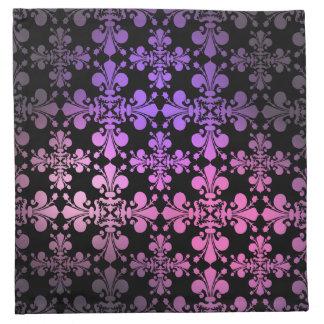 Damasco gótico 1 de la flor de lis de la elegancia servilletas de papel