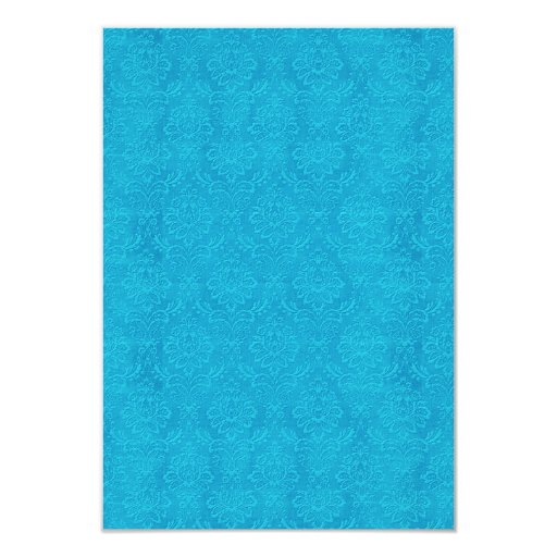 """Damasco grabado en relieve azules turquesas DIY V3 Invitación 3.5"""" X 5"""""""