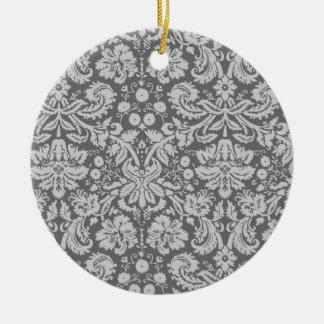 Damasco gris oscuro ornamentos de reyes
