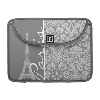 Damasco gris París del vintage Funda Macbook Pro