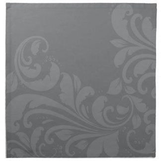 Damasco gris servilleta de papel