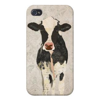 Damasco i de la vaca del ónix y de la perla iPhone 4 carcasa