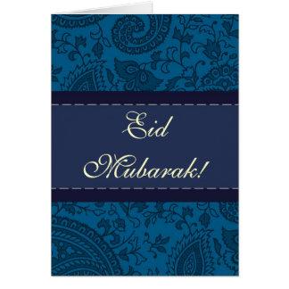 Damasco indio azul Eid Mubarak Felicitación