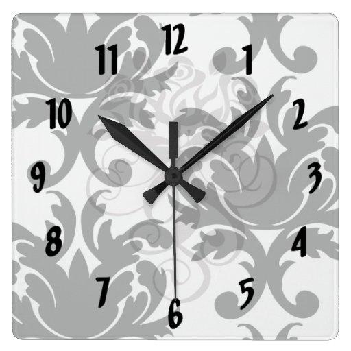 damasco intrépido blanco y negro grande relojes