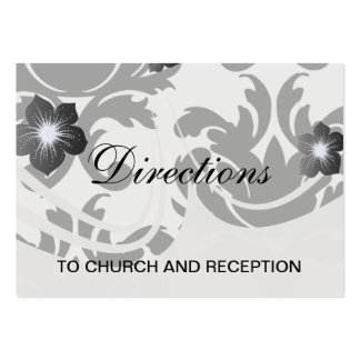 damasco intrépido blanco y negro grande tarjetas de visita grandes