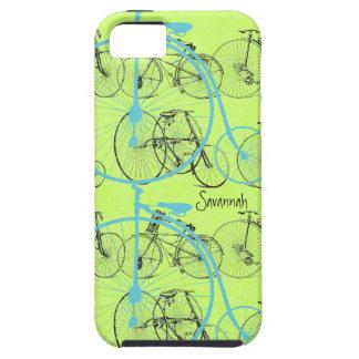 Damasco Iphone 5 de la bici de la aguamarina de la iPhone 5 Case-Mate Coberturas