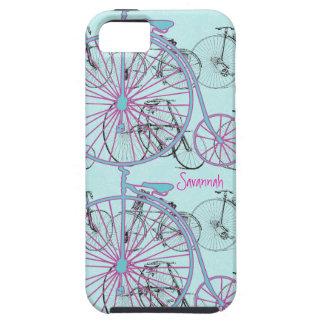 Damasco Iphone 5 de la bici de la aguamarina de la iPhone 5 Carcasas