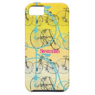 Damasco Iphone 5 de la bici de la aguamarina del r iPhone 5 Case-Mate Cobertura