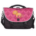 Damasco lindo conocido personalizado del rosa del  bolsas para portátil