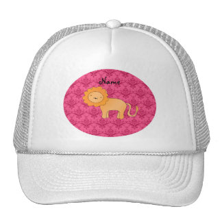 Damasco lindo conocido personalizado del rosa del  gorra