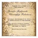 Damasco lindo Invitati que se casa elegante de Invitación 13,3 Cm X 13,3cm
