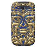 damasco líquido de GreenMan del oro 3D en borrachí Galaxy SIII Funda
