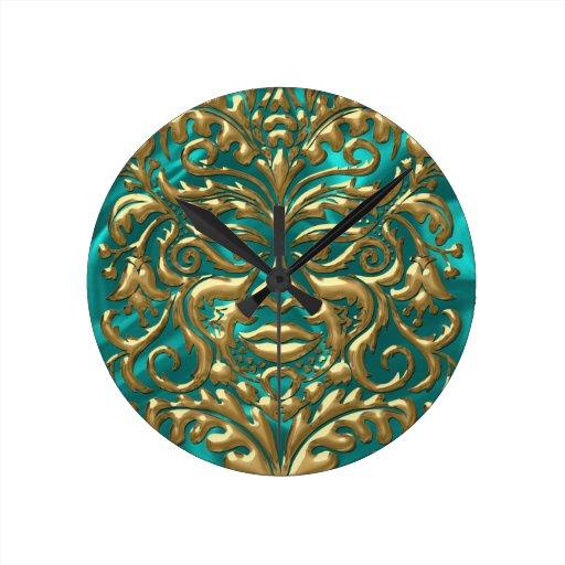 damasco líquido de GreenMan del oro 3D en borrachí Relojes