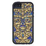 Damasco líquido de GreenMan del oro de *3D en borr iPhone 5 Cárcasas