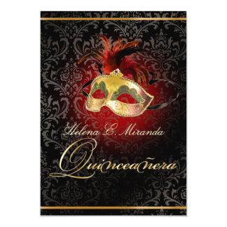 Damasco/Masquerade/DIY/Ruby de PixDezines Rossi Invitación 12,7 X 17,8 Cm