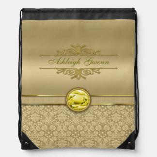 Damasco metálico del oro de la falsa piedra precio mochilas