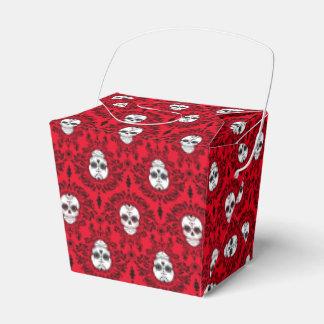 Damasco muerto - cajas para llevar del cráneo caja para regalos de fiestas