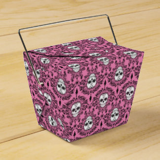 Damasco muerto - cajas para llevar del cráneo cajas para regalos de boda