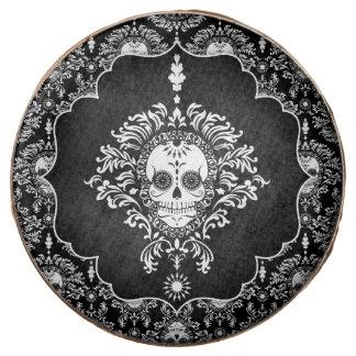 Damasco muerto - el cráneo elegante del azúcar
