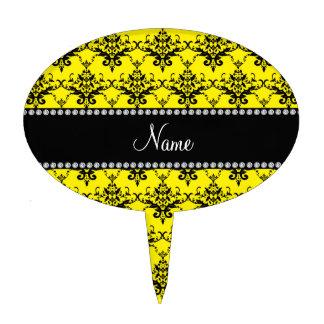 Damasco negro amarillo conocido personalizado figuras de tarta
