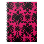 damasco negro en la frambuesa intrépida cuadernos