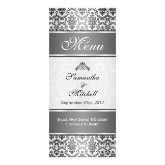Damasco negro en menú de los gris plateados lonas personalizadas