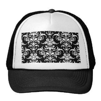 Damasco negro gorras