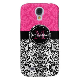 Damasco negro rosado elegante personalizado