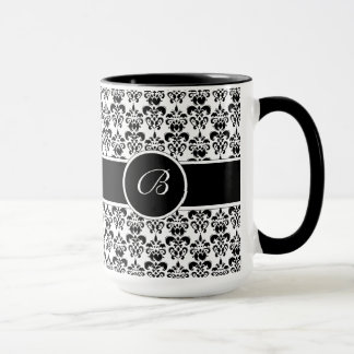 Damasco negro taza