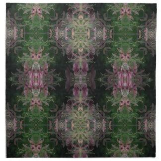 Damasco negro verde púrpura servilletas de papel