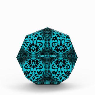 damasco negro y azul del efecto 3d