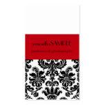 Damasco negro y blanco plantilla de tarjeta de visita