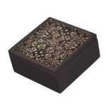 Damasco negro y de madera caja de joyas de calidad