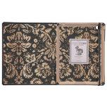 Damasco negro y de madera iPad coberturas