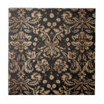 Damasco negro y de madera tejas  cerámicas