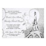 Damasco Parisienne - boda negro y blanco elegante Comunicado Personal
