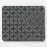 Damasco perfectamente pulido Mousepad, gris Tapetes De Raton