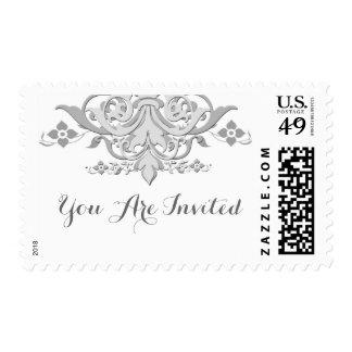Damasco personalizado casando el franqueo damask1 sello
