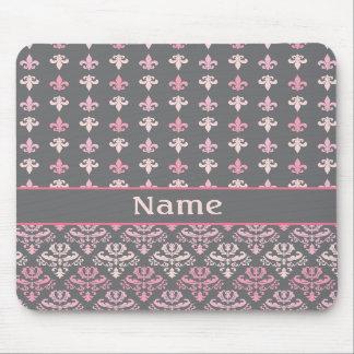 Damasco personalizado Mousepad de la flor de lis Tapetes De Ratón