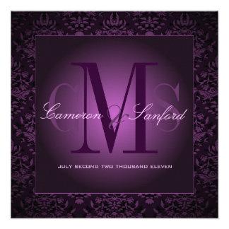 Damasco /plum de las joyas de PixDezines Invitacion Personalizada