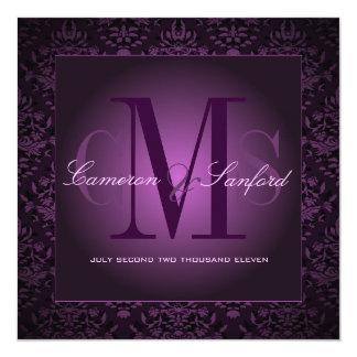 "Damasco /plum de las joyas de PixDezines Invitación 5.25"" X 5.25"""