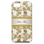 damasco poner crema elegante del oro del iPhone 5  iPhone 5 Coberturas