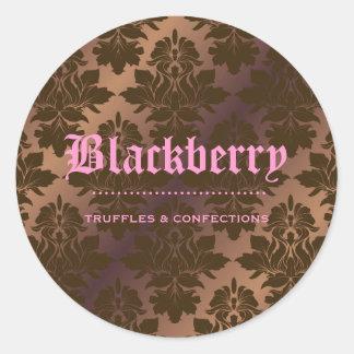 damasco puro de la trufa de chocolate 311-Blackb Pegatina