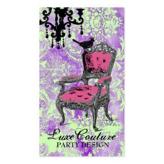 Damasco púrpura caliente fabulosamente francés de tarjetas de visita