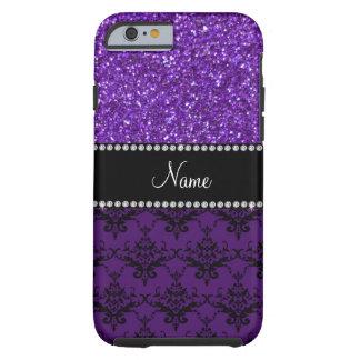 Damasco púrpura conocido personalizado del brillo funda de iPhone 6 tough