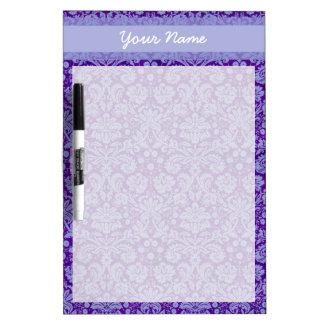 Damasco púrpura de encargo pizarras blancas de calidad