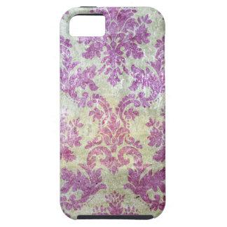 Damasco púrpura del Grunge iPhone 5 Case-Mate Cárcasas