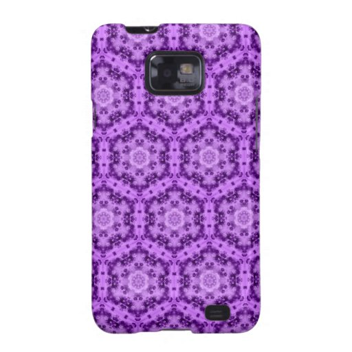 Damasco púrpura elegante de Edwardinan - caja de Samsung Galaxy S2 Fundas