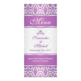 Damasco púrpura en el menú de plata lonas personalizadas