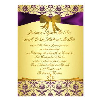 Damasco púrpura formal adornado del oro que casa I